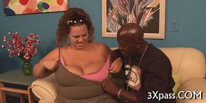 Black chubby bitch fucked - video 13