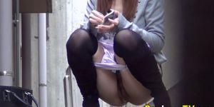 PISS JAPAN TV - Asian teen sluts urinate