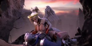 Mercy Screw With Soldier Overwatch Full Hd Nsfw