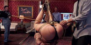 Slaves in horizontal suspensions (Katerina Kay, Syren De Mer, Syren Demer)